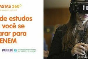 Recode e Descomplica sorteiam bolsas de estudos para alunos de projeto de produção de vídeosem tecnologia 360°